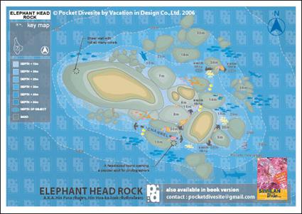 map of Elephant Head Rock