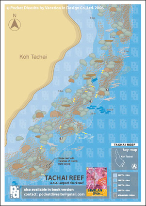 Map of Ko Tachai Reef
